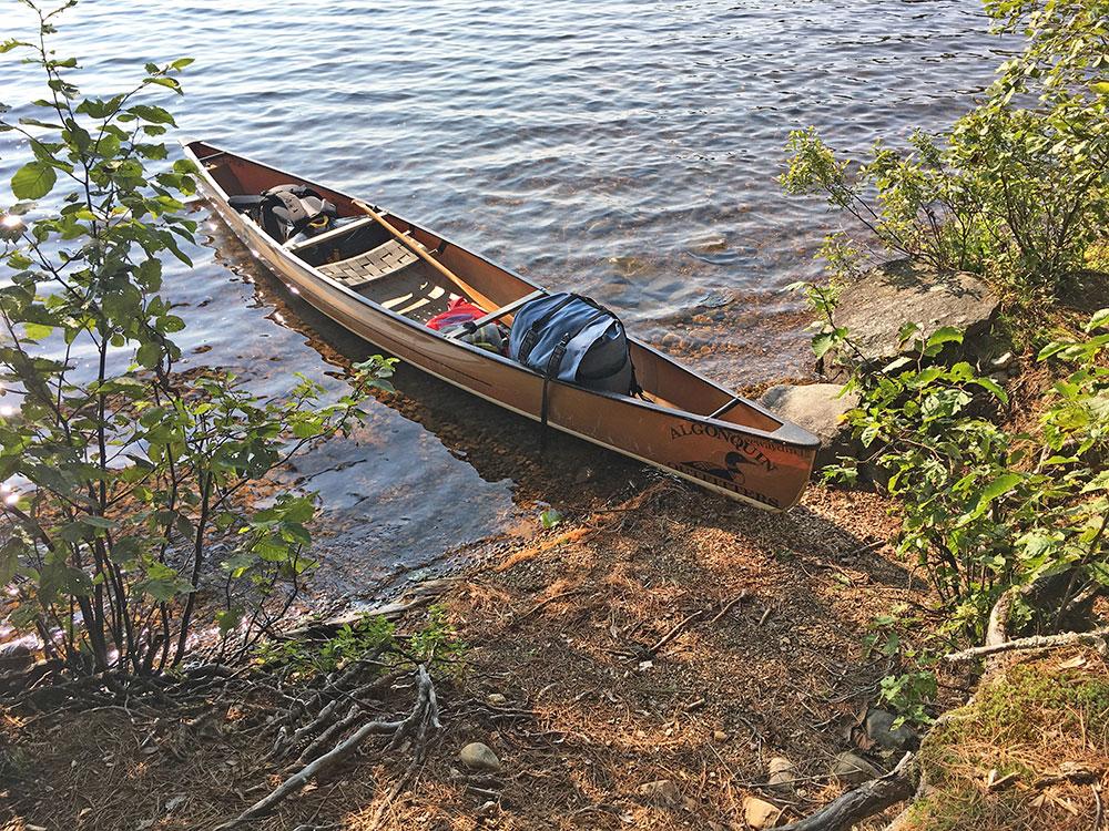 Big Trout Lake Campsite #32 beach canoe landing