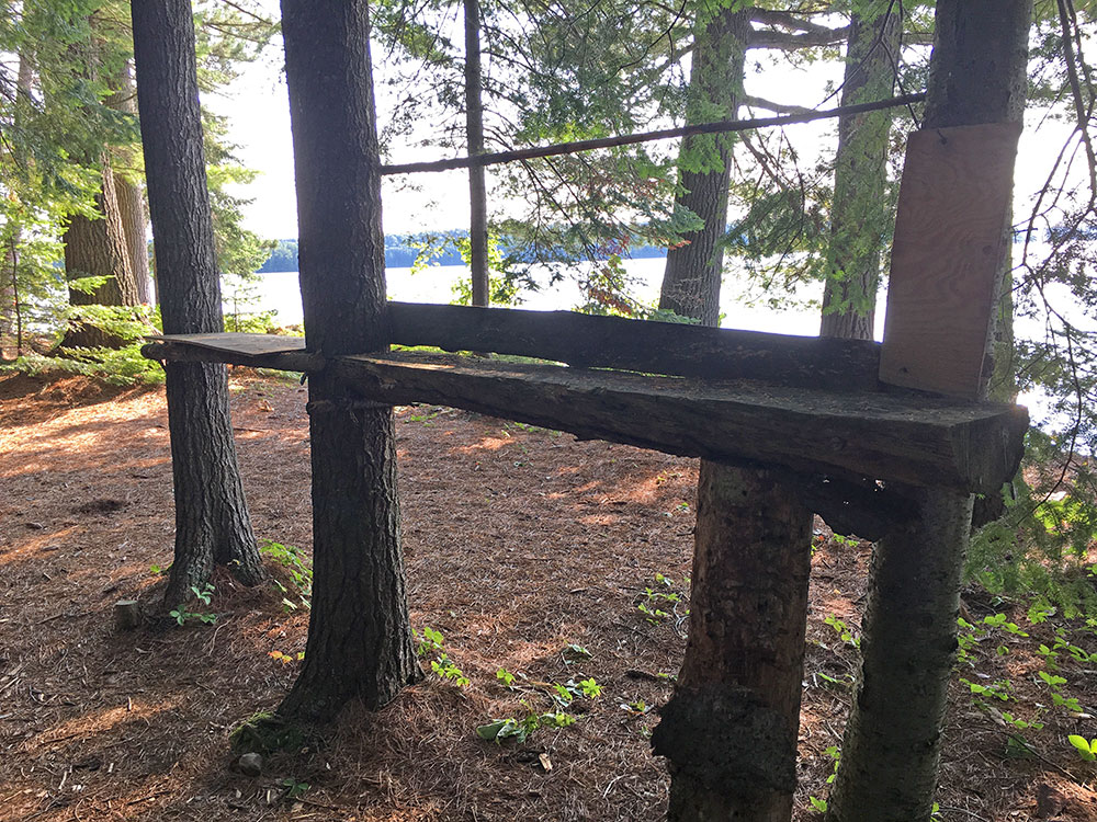 Big Trout Lake Campsite #32 man made shelf