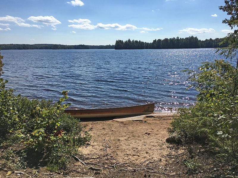 Burntroot Lake Campsite #12 beach landing