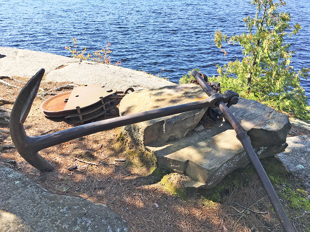 Burntroot Lake Campsite #14 the famous anchor