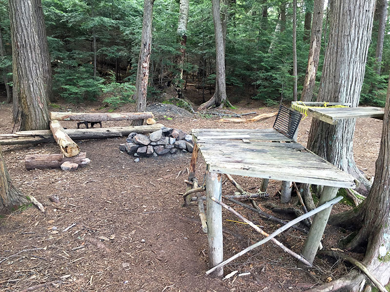 Clydegale Lake Campsite #5 man made tables