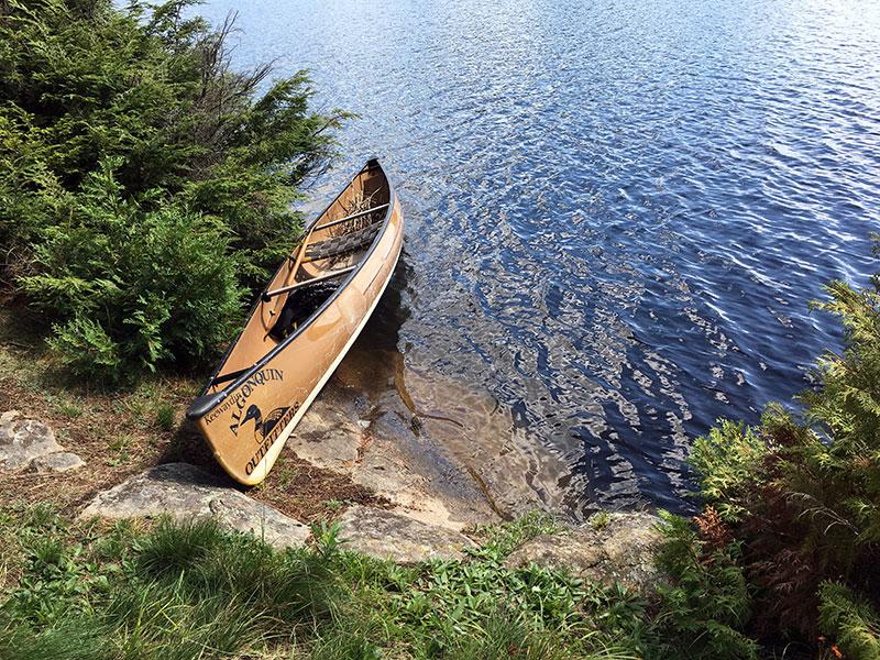 Linda Lake Campsite #4 canoe landing