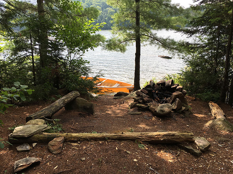 Mubwayaka Lake campsite #1 fire pit and seating