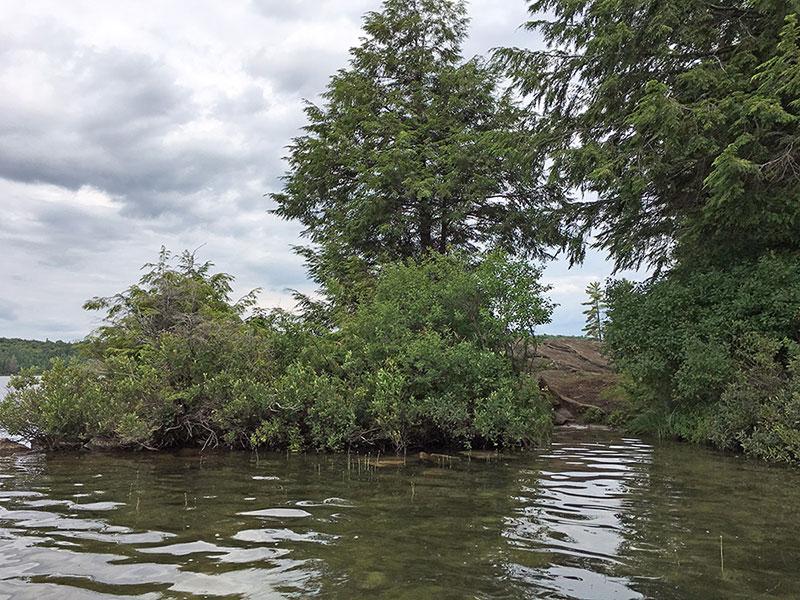 Mubwayaka Lake campsite #2 canoe landing