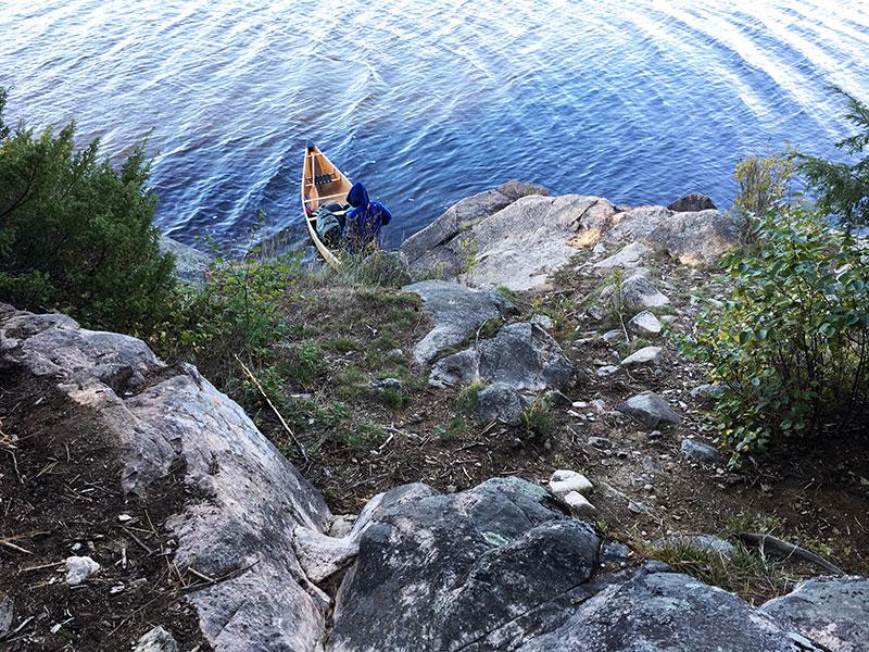 Pen Lake campsite #12 canoe landing