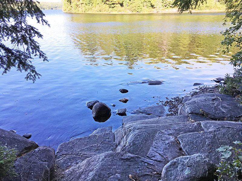 Pen Lake campsite #13 canoe landing