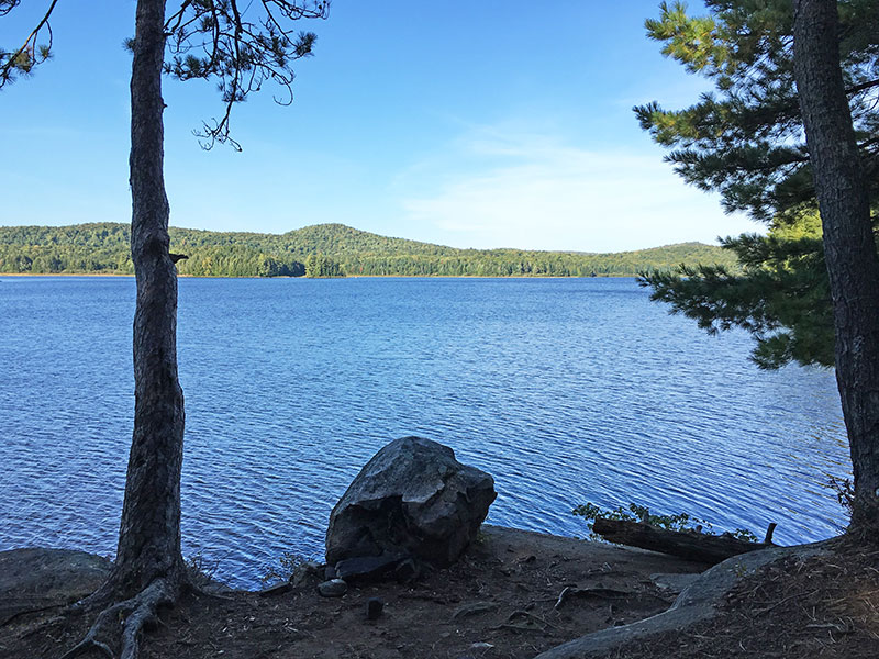 Pen Lake campsite #13 view out onto the water