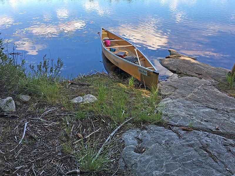 Queer Lake campsite #11 canoe landing