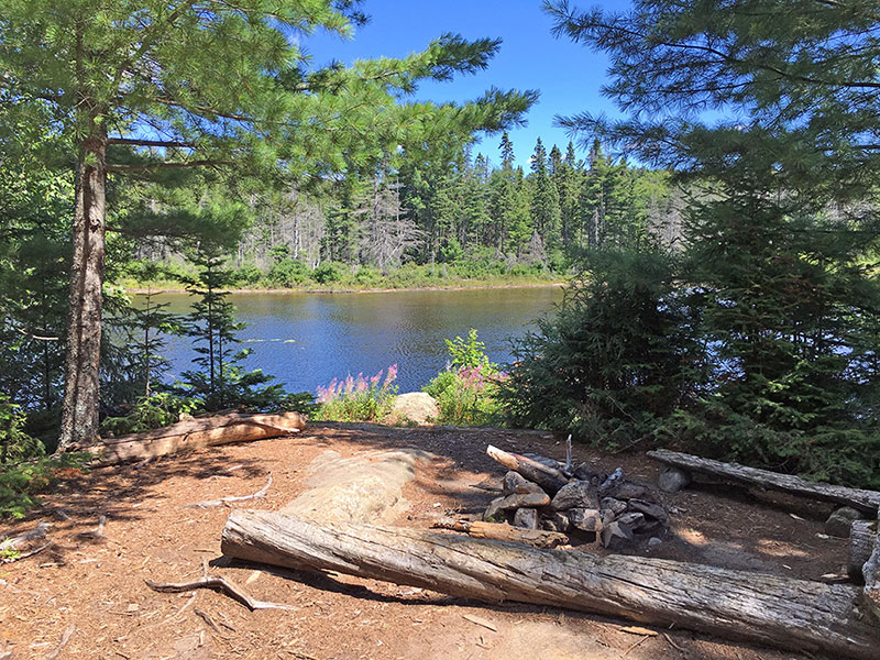 Queer Lake campsite #12 look out onto the lake