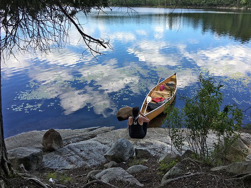 Queer Lake campsite #13 canoe landing