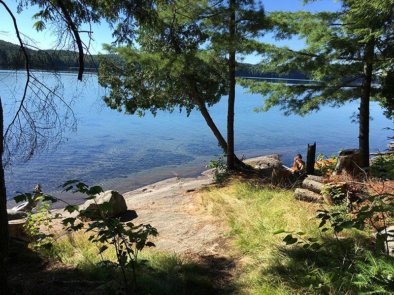 Ralph Bice Lake campsite #2 canoe landing area