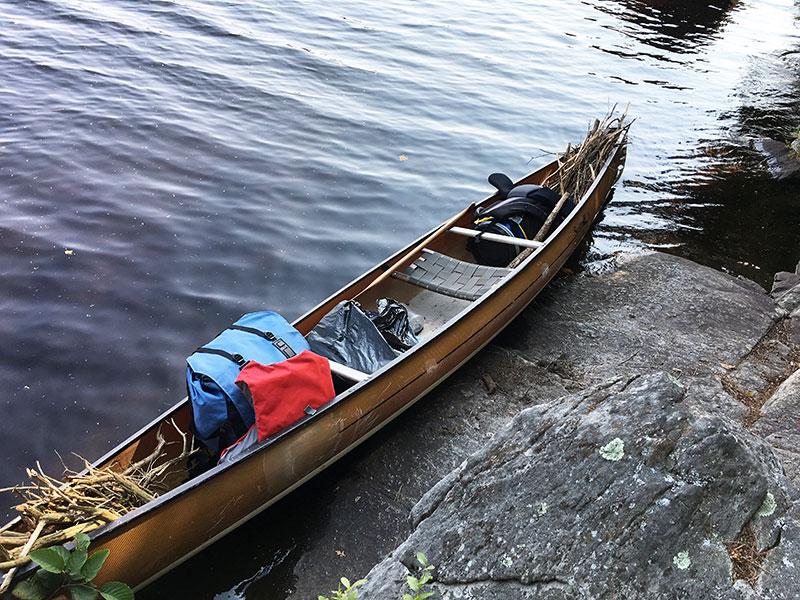 Red Pine Bay Campsite #1 canoe landing