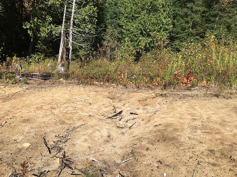 Scorch Lake campsite #3 beach landing