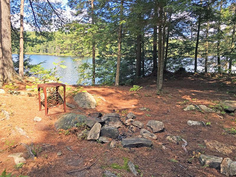 Sproule Lake Campsite #1 interior of the campsite