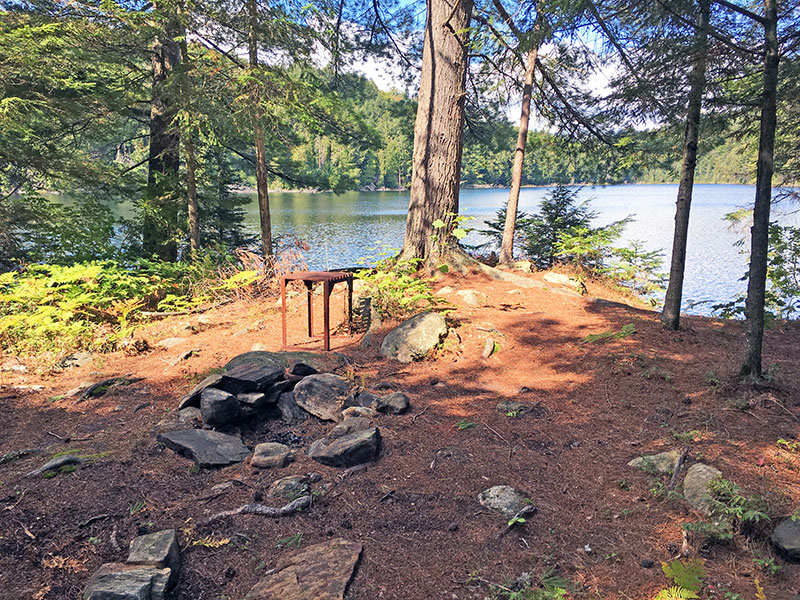 Sproule Lake Campsite #1 fire pit and no seating