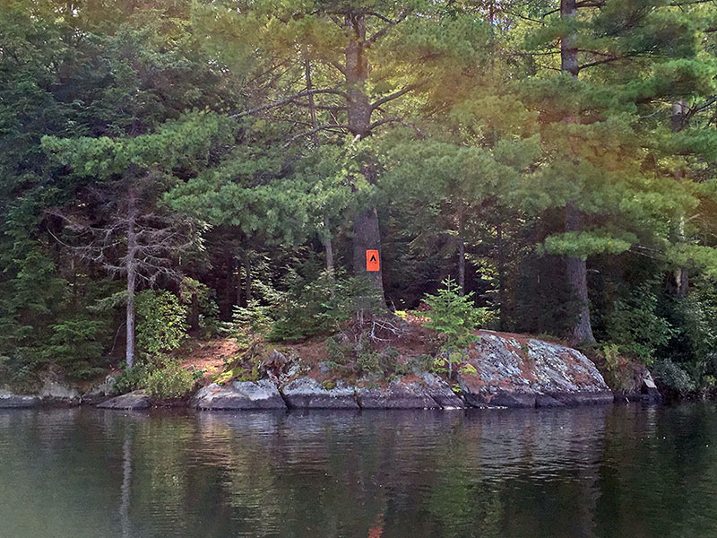 Sproule Lake Campsite #1 view from the water