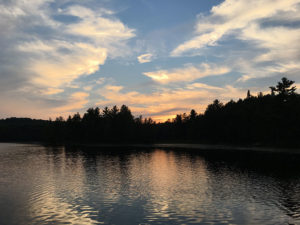 A pretty sunset on Clydegale Lake in Algonquin