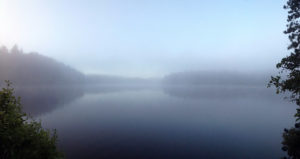 Foggy morning on Little Otterslide Lake