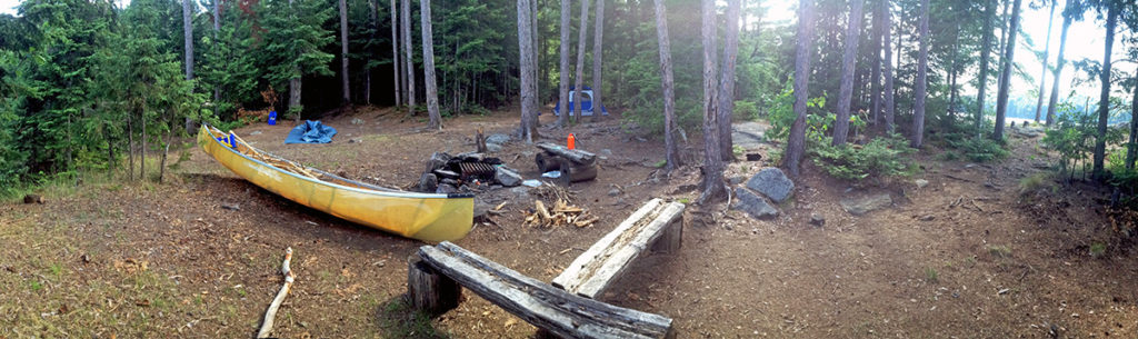 Lake Louisa campsite #13 panoramic view of campsite interior