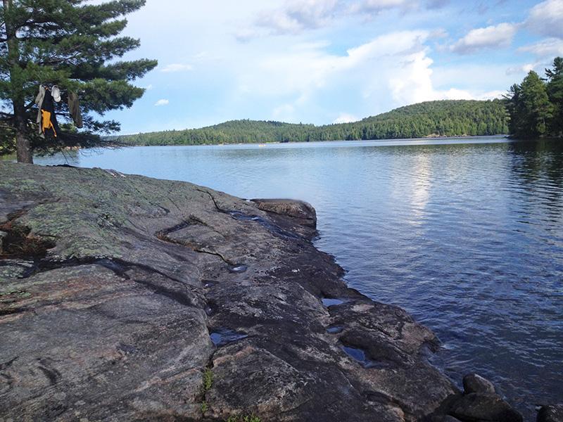 Lake Louisa Campsite #20 rocky shoreline