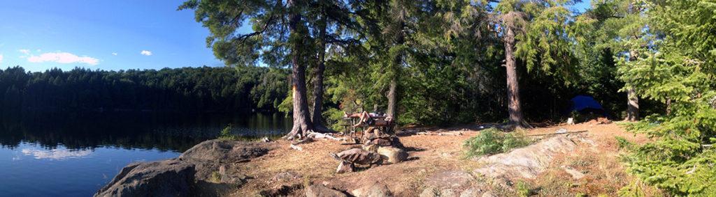 Linda Lake Campsite #1 front of campsite