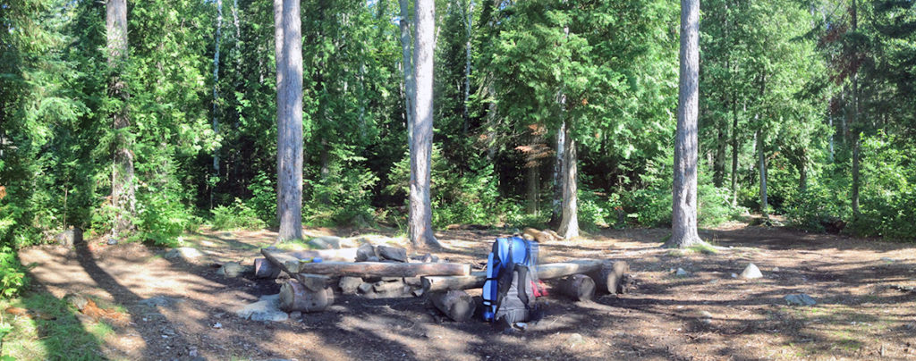Little Otterslide Lake campsite #4 panorama interior