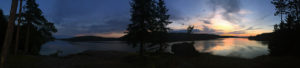 Panorama of Lake Louisa during the sunrise