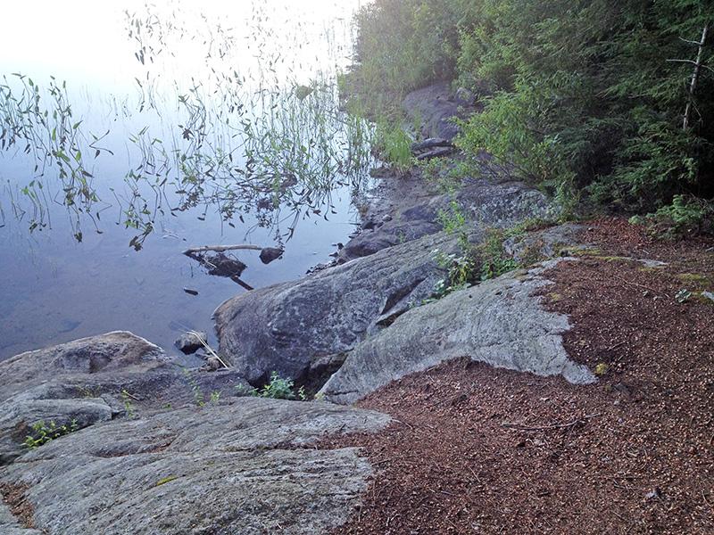 Welcome Lake campsite #4 canoe landing