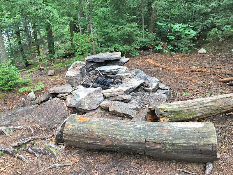 Bonnechere Lake campsite #5 fire pit and seating