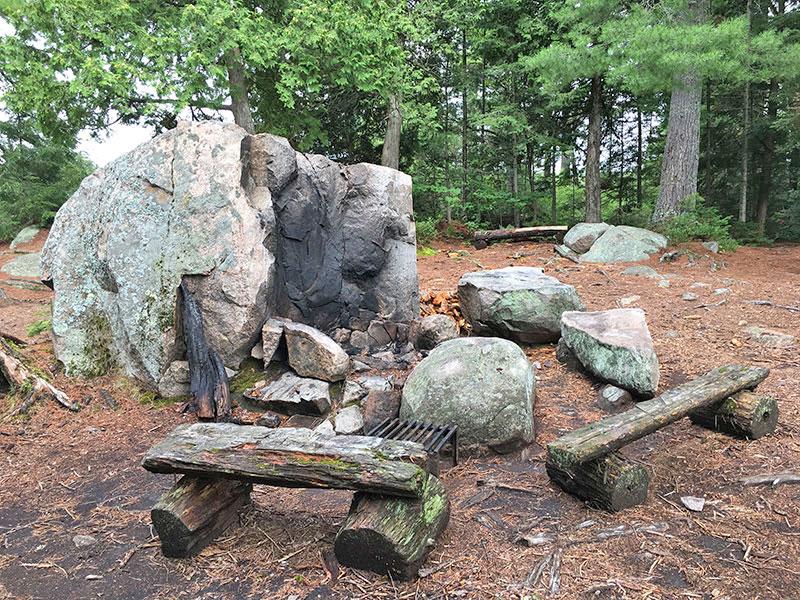 Bonnechere Lake campsite #6 epic fire pit area