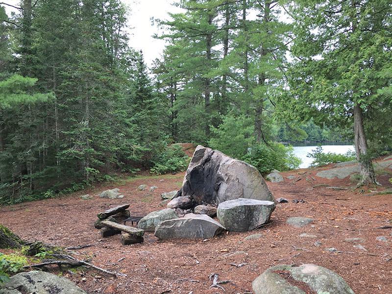 Bonnechere Lake campsite #6 interior of campsite