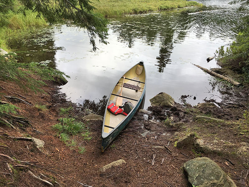 Bonnechere Lake campsite #6 canoe landing on Bonnechere Lake