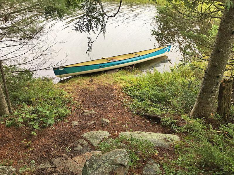 Kirkwood Lake campsite #1 canoe landing