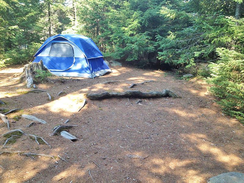 Linda Lake Campsite #1 in 2016, tent spot options