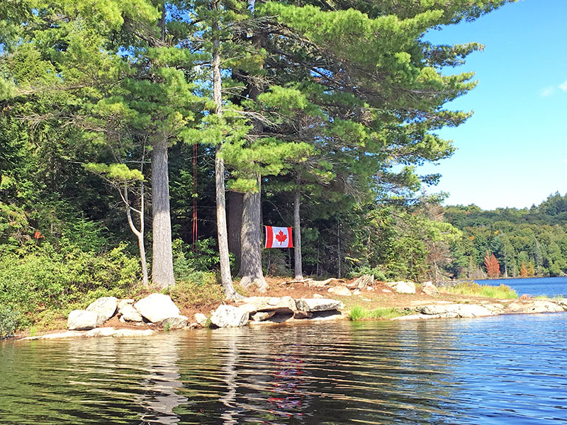 Linda Lake campsite #1 in 2018 back of the island