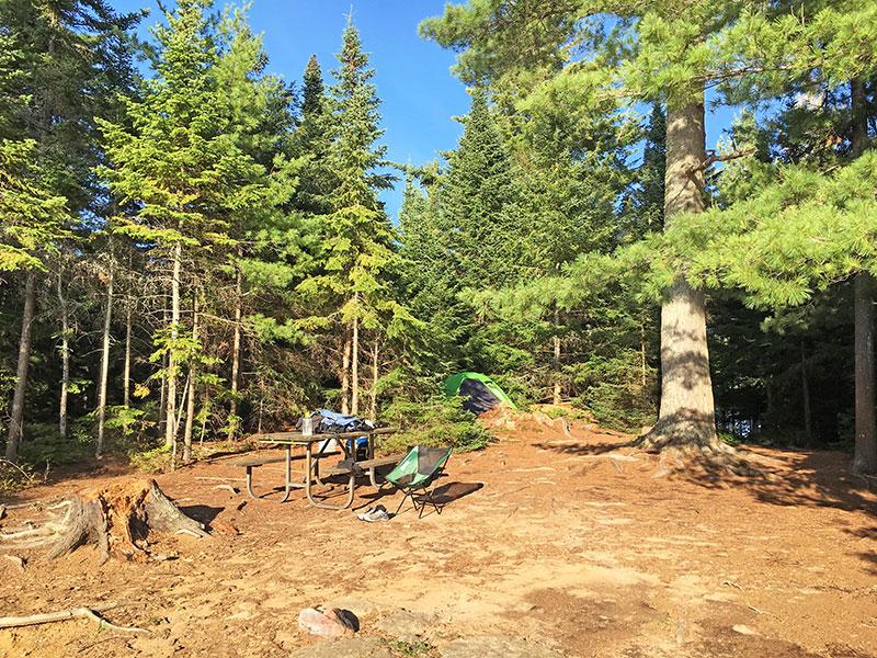 Linda Lake campsite #1 in 2018 interior of the campsite looking inward