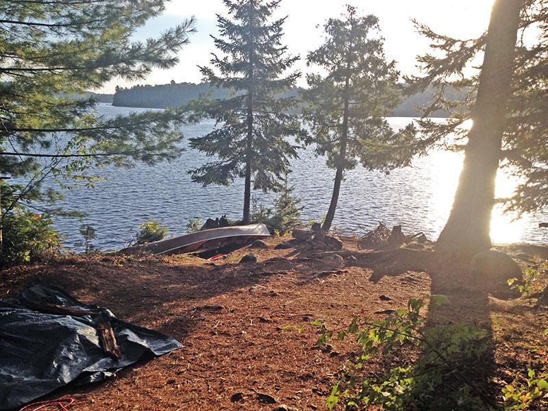Manitou Lake campsite #5 interior of the campsite