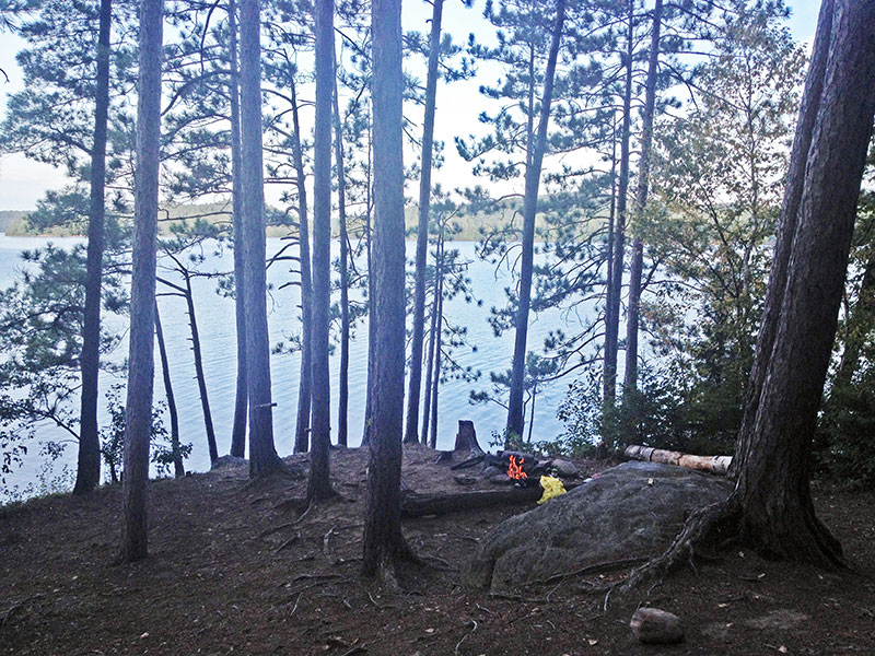 Manitou Lake campsite #6 interior of campsite