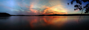 Gorgeous sunset on Manitou Lake in Algonquin Park