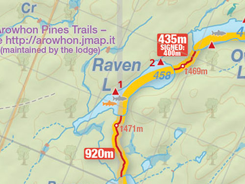 Map of Raven Lake Campsites