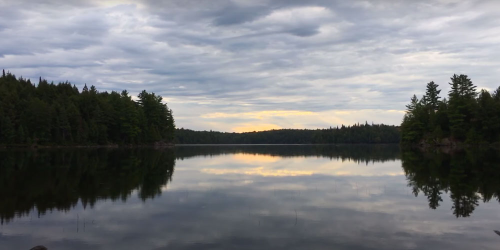 A calm and very pretty morning on Timberwolf Lake in Algonquin Park