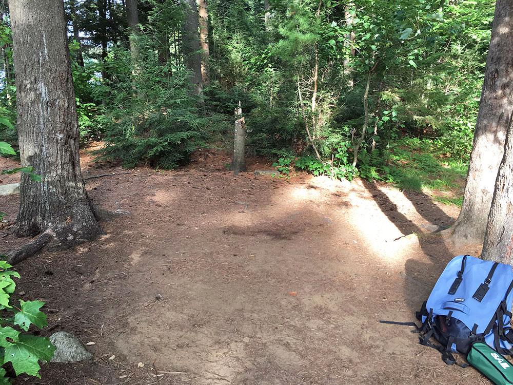 Large tent option on campsite #6 on Misty Lake