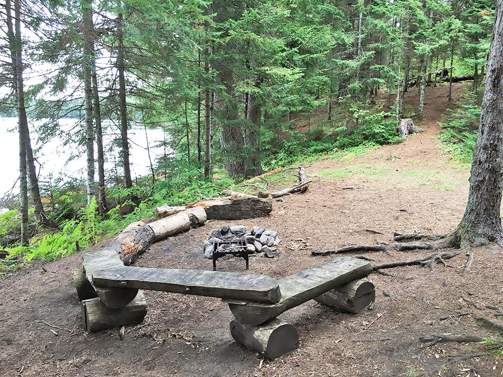 Interior of campsite #10 on White Trout Lake in Algonquin Park