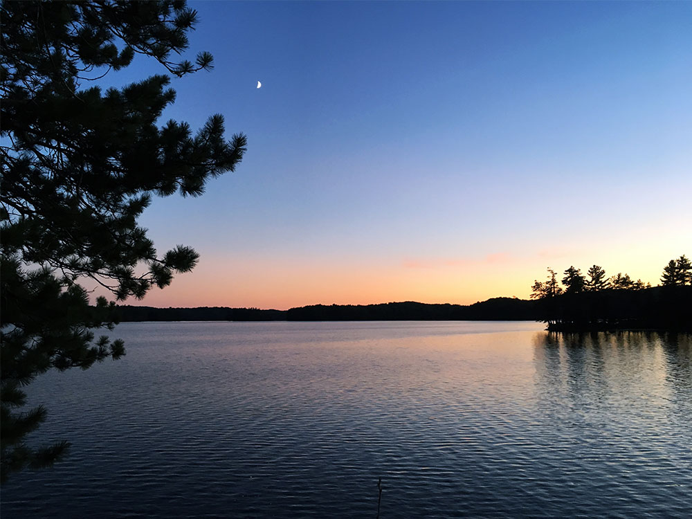 Evening sunset on White Trout Lake in Algonquin Park