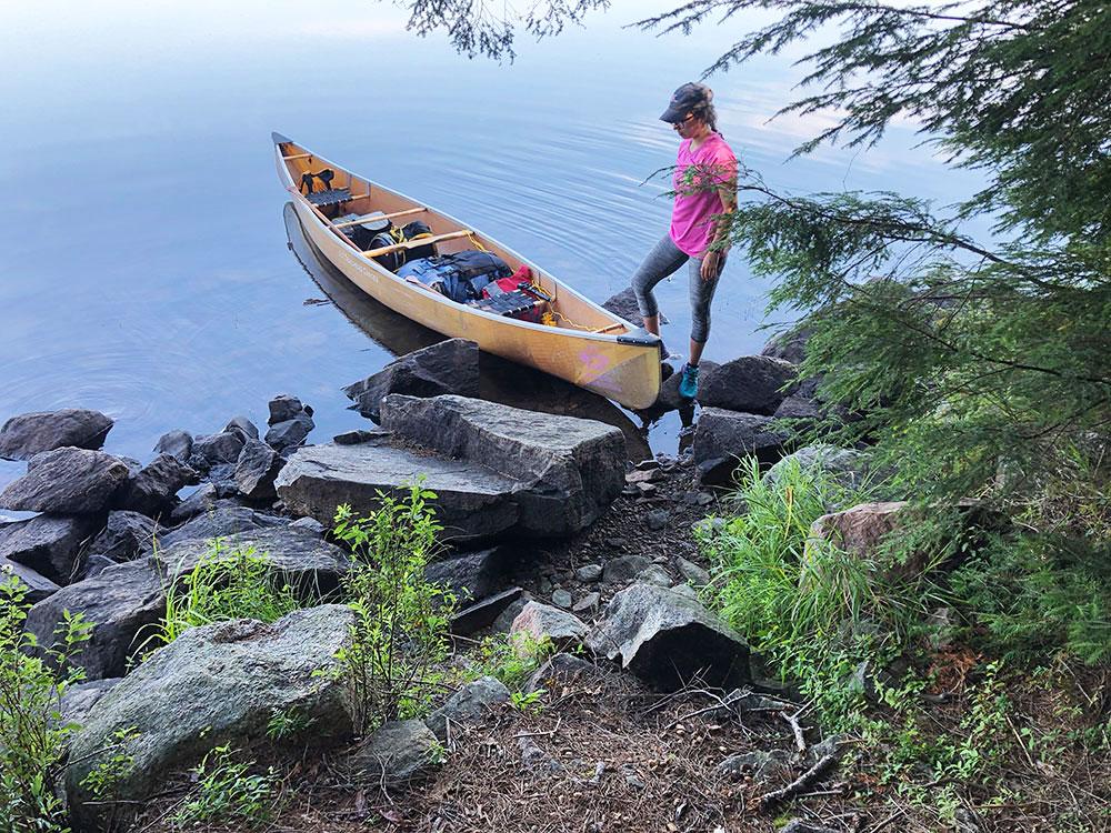 Canoe landing for Harry Lake campsite #2