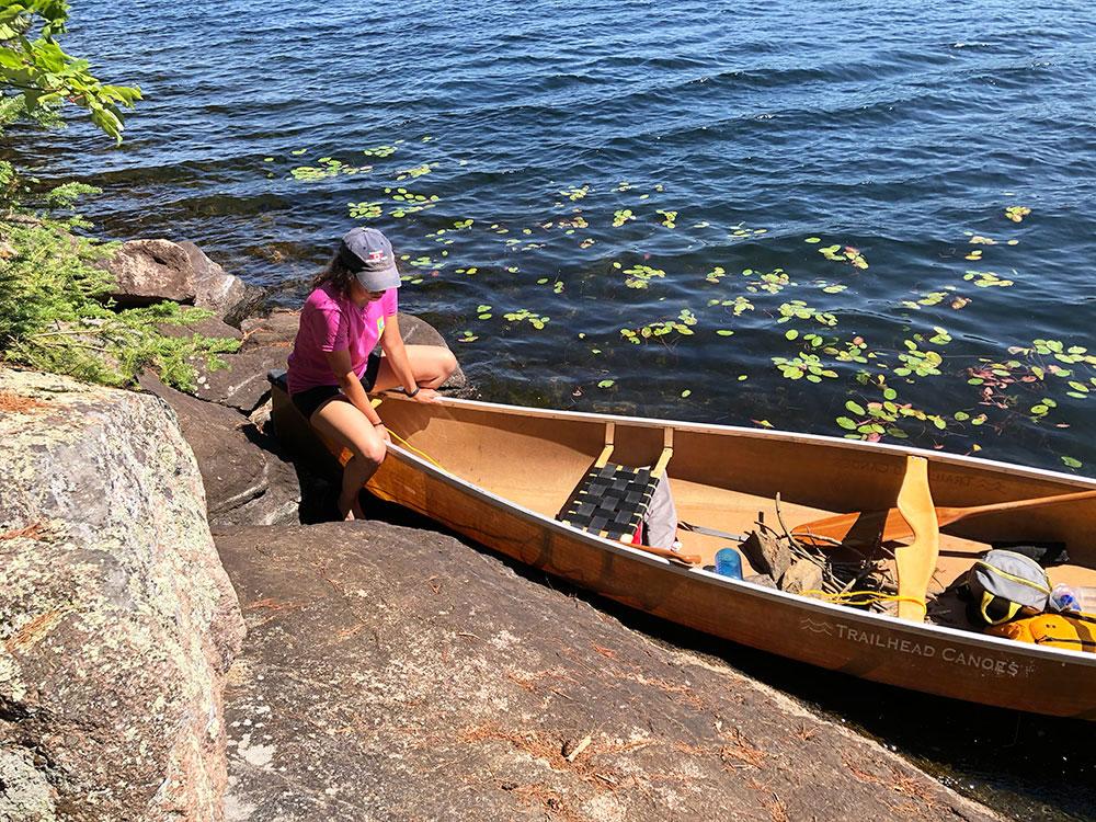 Canoe landing for campsite #10 on Lake Louisa