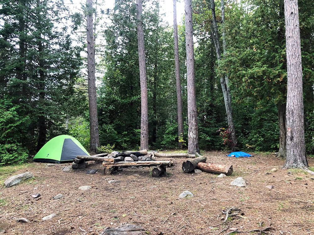 Little Otterslide Lake campsite September 2020