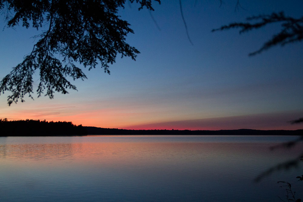Sunset on Big Trout Lake in Algonquin Park