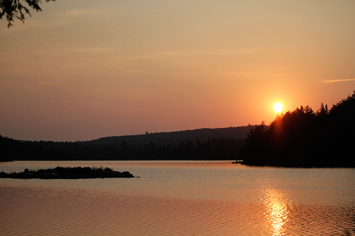 Sunrise on Ragged Lake during Thanksgiving long weekend in Algonquin Park