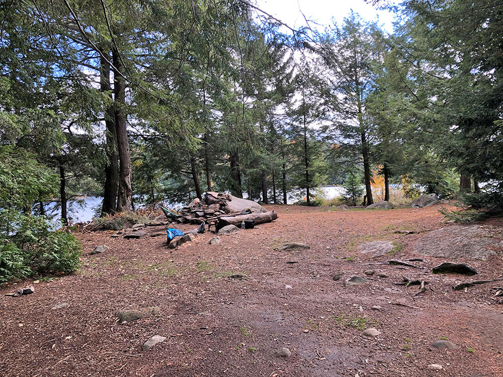 Large interior of campsite #3 on Ragged Lake in Algonquin Park